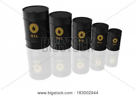 Oil barrels isolated on white - 3d rendering