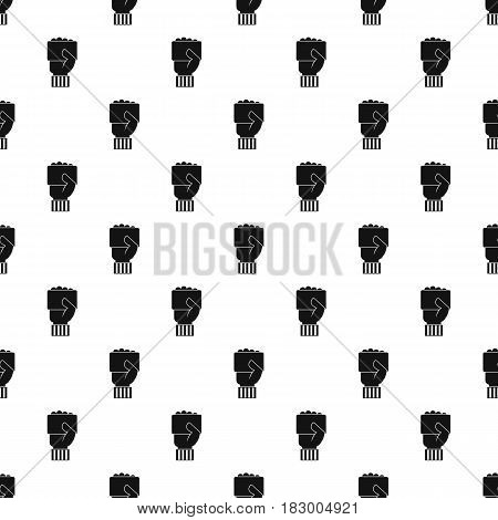 Hand of soccer referee showing card pattern seamless in simple style vector illustration