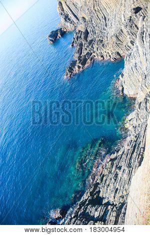 cinque terre monterosso bay italy ligiria sea