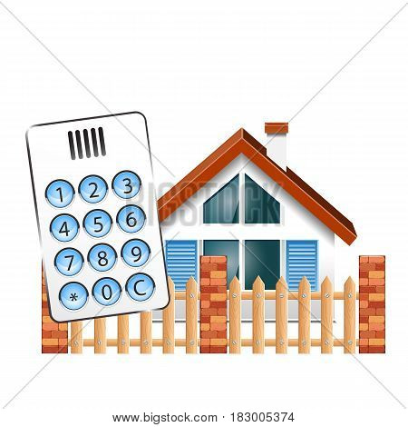 Security alarm for the house. Intercom doorphone and at house