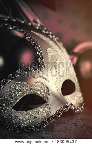 Photo Of Beautiful Masquerade Mask On The Wonderful Brown Studio Background