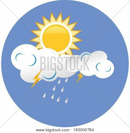 Sun cloud cloudy weather icon background sky nature