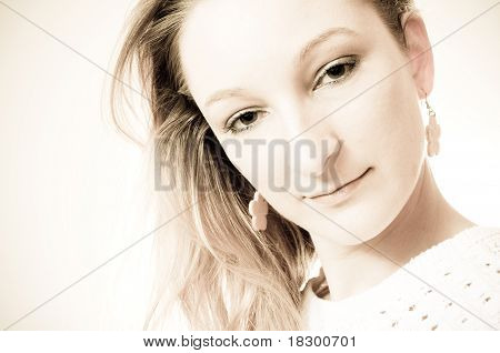 Beauty Portrait Of A Blond Girl