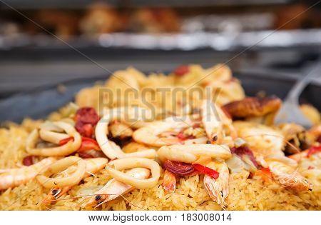 Cooked Pink Giant Shrimp Prawns Garnished