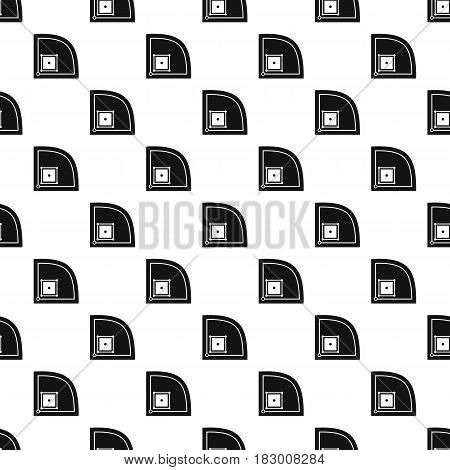 Baseball field pattern seamless in simple style vector illustration