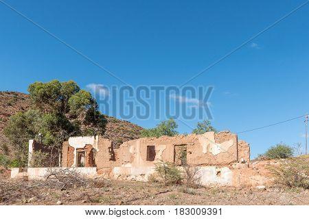 A ruin in Zoar a village in the Western Cape Province
