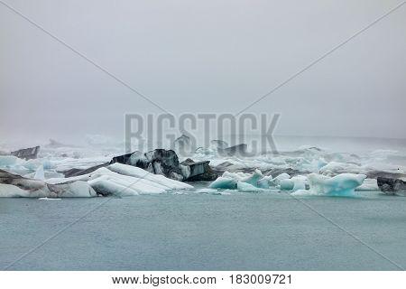 Jokulsarlon lake near Vatnajokull glacier in Iceland