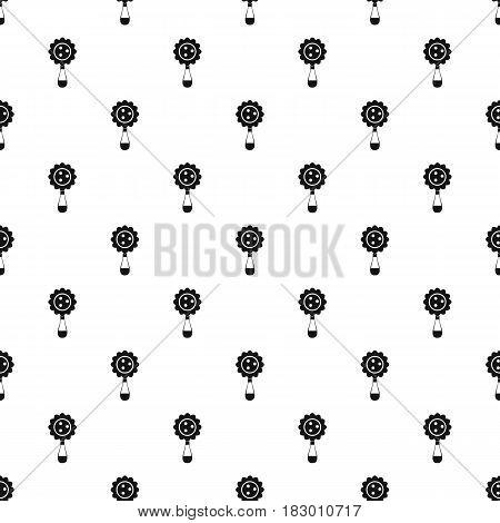 Rattle baby toy pattern seamless in simple style vector illustration