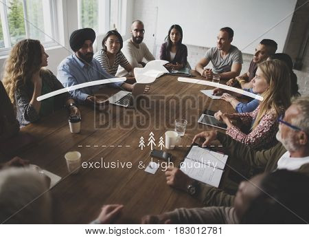 People Business Group Meeting Together