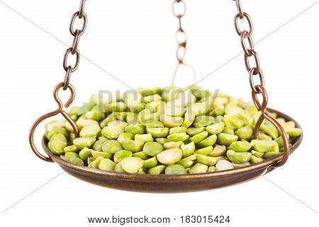 Dried Peas In A Balance Scale