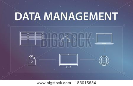 Cloud Computing Data Management Concept