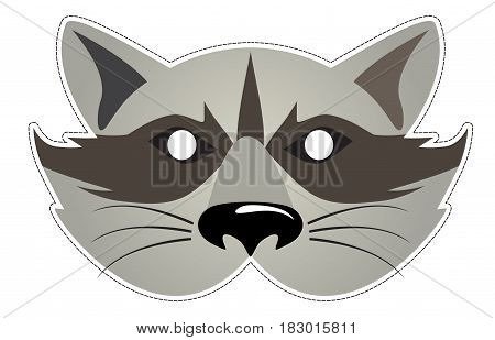 mask of the Raccoon Be a Raccoon at a party