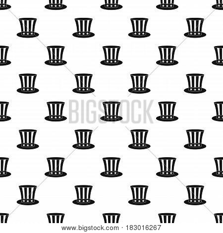 Uncle sam hat pattern seamless in simple style vector illustration