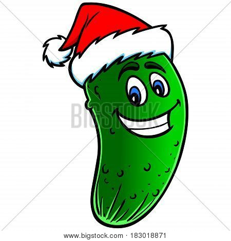Christmas_pickle_cartoon.eps