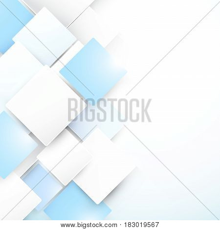 Abstract blue and white geometric repeating concept background