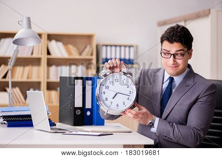 Businessman failing to meet the deadlines