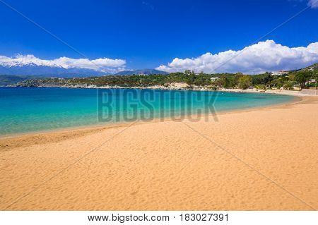 Marathi bay with beautiful beach on Crete, Greece