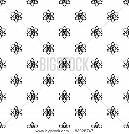Atomic model pattern seamless in simple style vector illustration