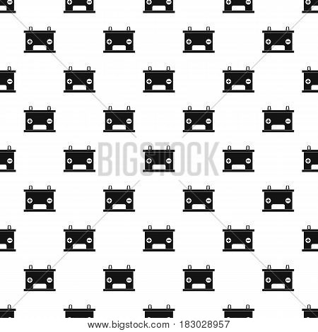 Electricity accumulator battery pattern seamless in simple style vector illustration