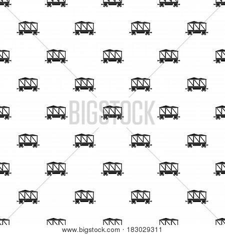 Railway wagon pattern seamless in simple style vector illustration