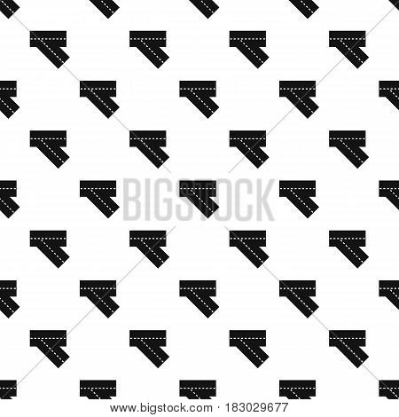 Turn road pattern seamless in simple style vector illustration