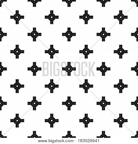 Big road junction pattern seamless in simple style vector illustration