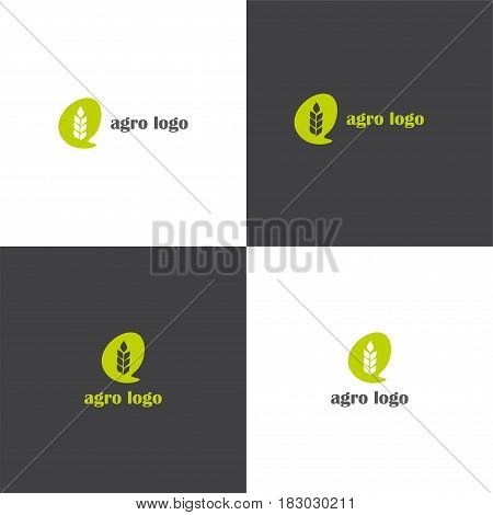 Vector eps logotype about agriculture in eps 10 horizontal and vertical view