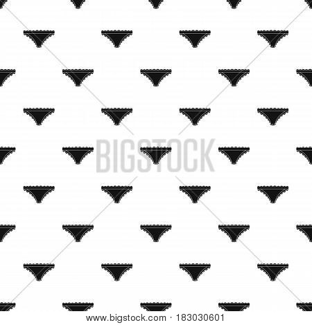 Panties with frill pattern seamless in simple style vector illustration