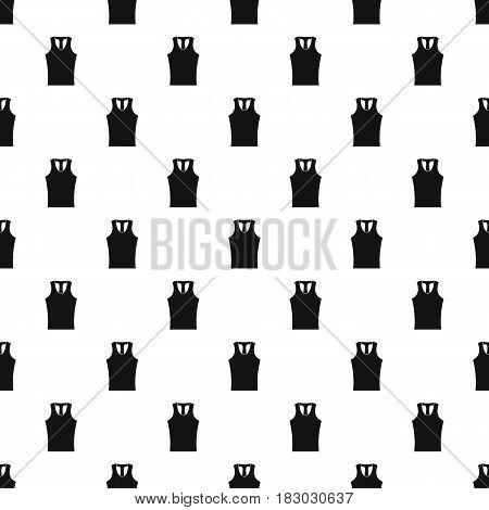 Sleeveless shirt pattern seamless in simple style vector illustration