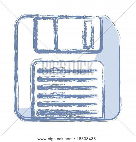 diskette icon over white background. vector illustration