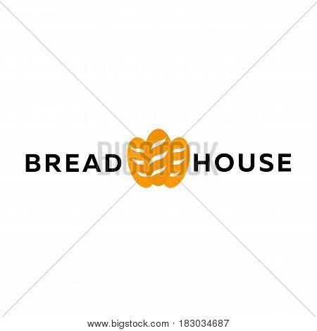 Bakery Shop Emblem, Labels, Logo And Design Elements. Loaf Fresh Bread. Vector Illustration.
