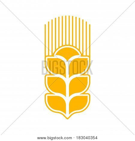 Wheat Logo Abstract. Agricultural Emblem Sign Isolated
