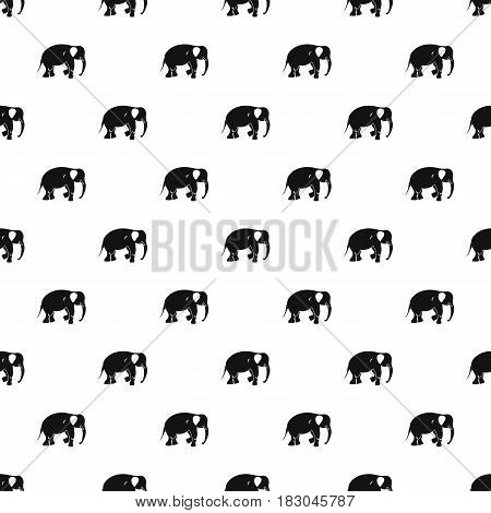 Elephant pattern seamless in simple style vector illustration