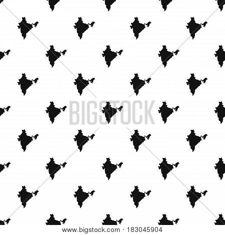 Indian map pattern seamless in simple style vector illustration