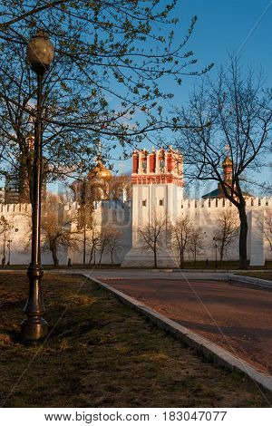 Novodevichy Convent At Springtime, Moscow, Russia.