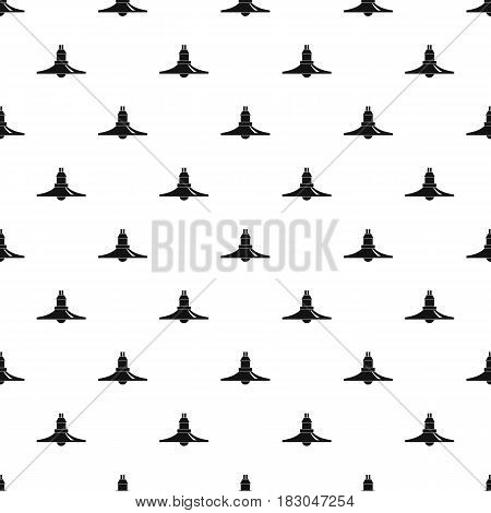 Hanging lantern pattern seamless in simple style vector illustration