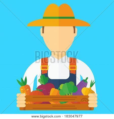 Farmer Man With Vegetables