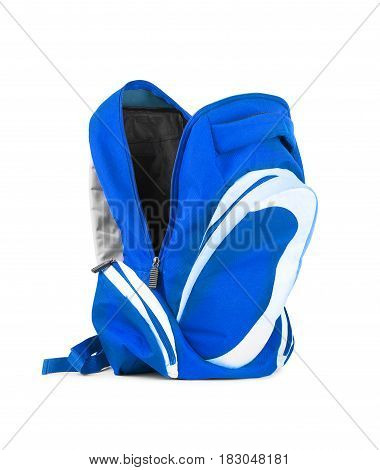 Open backpack isolated on a white background