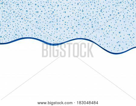 Transparent thick gel with bubbles isolated on white background