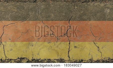 Old Grunge Vintage Faded German Republic Flag