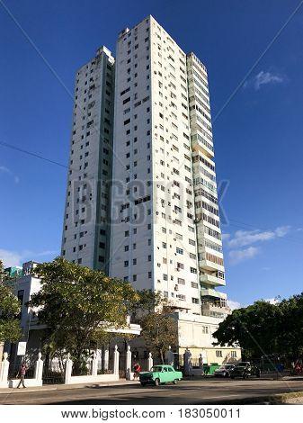 Cuban Apartment Tower - Havana, Cuba