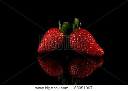 Red Ripe Strawberry Fruits