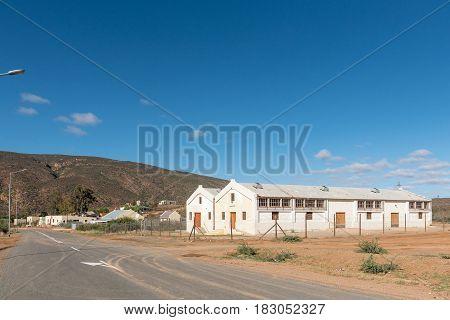 AMALIENSTEIN SOUTH AFRICA - MARCH 25 2017: A street scene in Amalienstein a village in the Western Cape Province