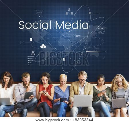 World Map Connection Social Media Technology