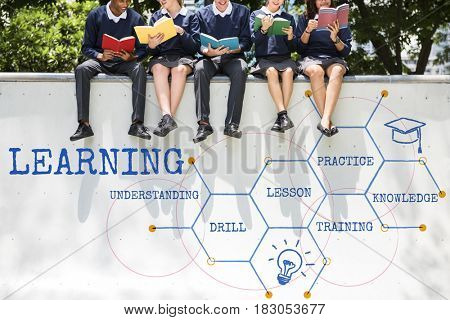 Learning Hexagon Pattern Diagram Graphic Icon