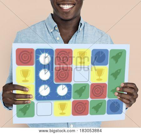 Chart Pie Spaceship Target Arrow Matching Game