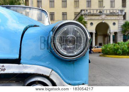 Classic Car Taxi - Hotel Nacional - Havana, Cuba