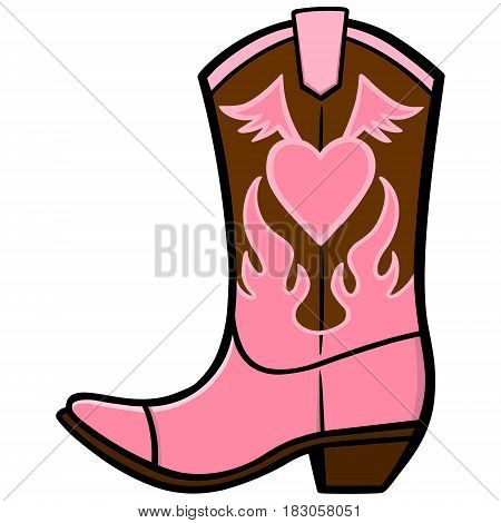 A vector illustration of a Cowgirl Boot.