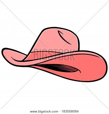 A vector illustration of a Cowgirl Hat.