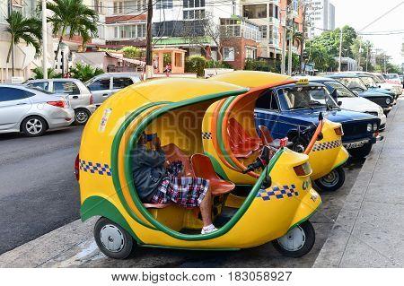 Mini Taxi - Havana, Cuba